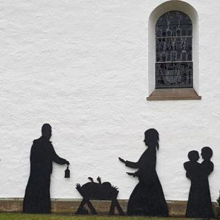Krippe an der St.-Agatha-Kirche